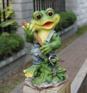 Design 3figurines de 29cm de hauteur 11151–3Déco Jardin Nain de jardin grenouille décoration de la marque GMMH image 0 produit
