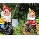 Design Nain bl15156–1Vélo XL 37cm Décoration figurines de nain de jardin design de la marque Unbekannt image 1 produit