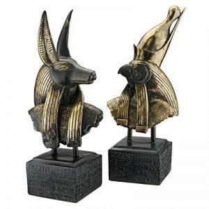 Design Toscano AH9262223 Sculptures dieux d'Egypte ancienneAnubis/Horus Noir 14 x 19 x 45,5 cm de la marque Design Toscano image 0 produit