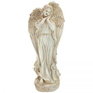 Design Toscano AL58133 Statue de jardin de Constance l'ange de la conscience Blanc Cassé 25,5 x 34,5 x 82,5 cm de la marque Design Toscano image 0 produit