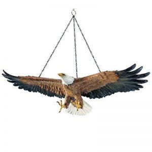 Design Toscano DB43027 Sculpture suspendue d'Aigle Vol de la liberté Multicolore 21,5 x 49,5 x 12 cm de la marque Design Toscano image 0 produit