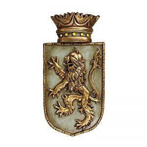 Design Toscano EU1040 Sculpture murale médiévale de bouclier de lion rampant Multicolore 6,5 x 18 x 37 cm de la marque Design Toscano image 0 produit