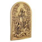 Design Toscano EU33471 Sculpture Murale Vierge Marie et Anges, Or, 2.5 x 19 x 29 cm de la marque Design Toscano image 1 produit