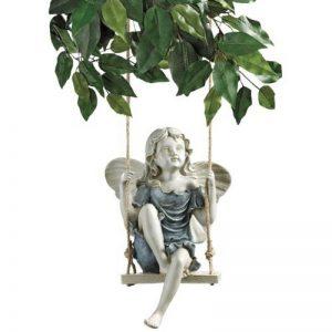 Design Toscano EU42046 Statue de fée sur une balançoire en été Bronzage 14 x 19 x 29 cm de la marque Design Toscano image 0 produit