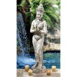 Design Toscano KY1459 Statue Thaïlandaise Blanc cassé 15 x 21,5 x 89 cm de la marque Design Toscano image 1 produit