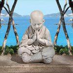 Design Toscano KY47127 Statuette Asiatique de Jardin Bébé Bouddha en Prière, Blanc Cassé, 34.5 x 39.5 x 52 cm de la marque Design Toscano image 1 produit