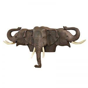 Design Toscano KY5054 Sculpture murale Éléphants Grandes illusions Multicolore 18 x 48,5 x 23 cm de la marque Design Toscano image 0 produit
