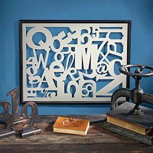 Design Toscano MH30853 Sculpture murale design Typographie Gris 1,5 x 86,5 x 66 cm de la marque Design Toscano image 0 produit