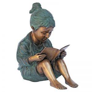 Design Toscano MP97627 fille lisant un livre d'histoire Statue de jardin Bronze 28 x 11,5 x 32 cm de la marque Design Toscano image 0 produit
