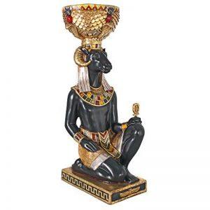 Design Toscano NE755345 Dieu égyptien Khnum Statue d'urne du socle Multicolore 25,5 x 37 x 75 cm de la marque Design Toscano image 0 produit