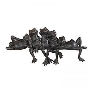 Design Toscano NY1435700 Lazy Daze groupe de grenouilles assis sur Seuil Bronze 10 x 39,5 x 16,5 cm de la marque Design Toscano image 0 produit