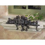 Design Toscano NY1435700 Lazy Daze groupe de grenouilles assis sur Seuil Bronze 10 x 39,5 x 16,5 cm de la marque Design Toscano image 2 produit