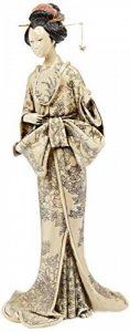 Design Toscano NY4500 Statue d'Okimono Geisha japonais Tenant un miroir Noir 12,5 x 15 x 37 cm de la marque Design Toscano image 0 produit