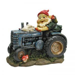 Design Toscano QL1530256 Gnome Statue Jardin - Lapin à bord Garden Gnome Tracteur - Lawn Gnome de la marque Design Toscano image 0 produit
