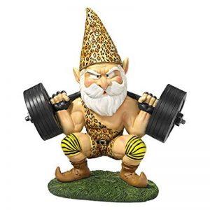 Design Toscano QM14014 Garden Gnome Statue - Atlas Athletic Haltérophilie Gnome - Jardin extérieur Gnomes - Statues drôle Gnome Lawn de la marque Design Toscano image 0 produit