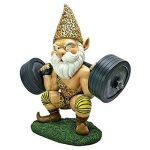 Design Toscano QM14014 Garden Gnome Statue - Atlas Athletic Haltérophilie Gnome - Jardin extérieur Gnomes - Statues drôle Gnome Lawn de la marque Design Toscano image 1 produit