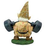 Design Toscano QM14014 Garden Gnome Statue - Atlas Athletic Haltérophilie Gnome - Jardin extérieur Gnomes - Statues drôle Gnome Lawn de la marque Design Toscano image 2 produit