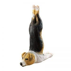 Design Toscano QM23004 Statuette Chien Zen Beagle Woofamba faisant du yoga, Multicolore, 6.5 x 14 x 18 cm de la marque Design Toscano image 0 produit