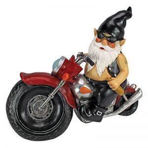 Design Toscano QM7512103 Jardin Statue de Gnome - Axle Grease Biker Gnome - Statues Gnome sauvage - Gnome Statue sur la moto de la marque Design Toscano image 0 produit