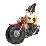 Design Toscano QM7512103 Jardin Statue de Gnome - Axle Grease Biker Gnome - Statues Gnome sauvage - Gnome Statue sur la moto de la marque Design Toscano image 4 produit