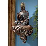 Design Toscano QS28828 Sculpture Murale Bouddha Illuminé sur un Nuage Flottant, Noir, 19 x 32 x 56 cm de la marque Design Toscano image 3 produit