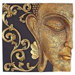 Design Toscano QS29068 Sculpture Murales Asiatique à Miroir Nirvana Double Bouddha, Deux Tons Noir Et Or, 5 x 26.5 x 26.5 cm de la marque Design Toscano image 1 produit