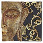 Design Toscano QS29068 Sculpture Murales Asiatique à Miroir Nirvana Double Bouddha, Deux Tons Noir Et Or, 5 x 26.5 x 26.5 cm de la marque Design Toscano image 2 produit