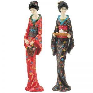 Design Toscano Sadayakko & Koyukit Statues Geishas Japonaises, Multicolore, 6.5 x 7.5 x 30.5 cm de la marque Design Toscano image 0 produit