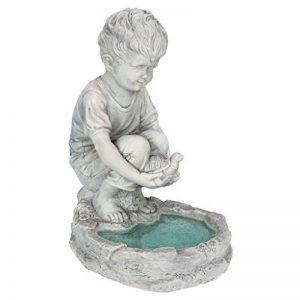 Design Toscano SH38100313 Statue de Tommy le petit garçon à l'étang aux tortues Multicolore 29 x 23 x 40,5 cm de la marque Design Toscano image 0 produit