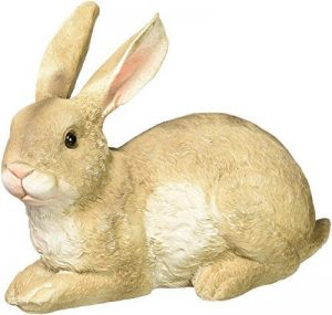 Design Toscano Statue Bashful le petit lapin allongé dans le jardin, multicolore de la marque Design Toscano image 0 produit
