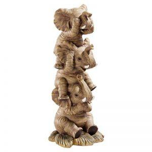 Design Toscano Statue éléphants Ne rien entendre, ne rien voir, ne rien dire en couleur naturelle de la marque Design Toscano image 0 produit
