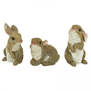 Design Toscano Statues la tanière des petits lapins de jardin, multicolore de la marque Design Toscano image 0 produit