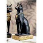 Design Toscano WU67897 Statue de Bastet déesse égyptienne à tête de chat Noir 10 x 7,5 x 20,5 cm de la marque Design Toscano image 1 produit