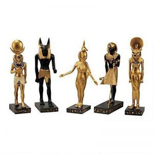 Design Toscano WU9600 Dieux égyptiens Statue Noir 7,5 x 5 x 21,5 cm de la marque Design Toscano image 0 produit