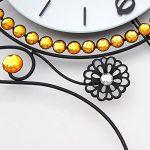 DHGY- Rock créatif horloge mode salon horloges de pendule murale quartz silencieux européen (sans batterie)Cadeau de cadeau de Noël de vacances d'ami cadeau de la marque wpw-wall clock image 3 produit