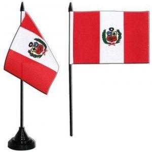 Digni Drapeau de table Pérou, mini drapeau - 10 x 15 cm de la marque Digni image 0 produit