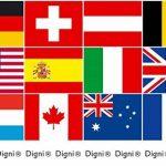 Digni Guirlande avec drapeaux de tous les participants CDM Football 2018 en Russie - 15 x 22 cm sticker gratuit de la marque Digni image 1 produit