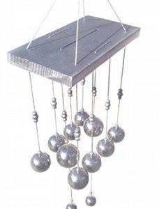 Discount4product Feng Shui en métal et en bois Carillon Carillon tuyaux Bell à suspendre pour décoration d'énergie Positive Silver 10 bell Silver de la marque Discount4product image 0 produit