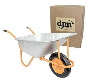 DJM Brouette de jardin en métal robuste avec pneu 90litre/180kg de la marque image 0 produit