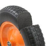 DJM Brouette de jardin en métal robuste avec pneu anti-crevaison 90litre/180kg de la marque image 3 produit
