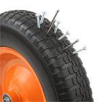 DJM Brouette de jardin en métal robuste avec pneu anti-crevaison 90litre/180kg de la marque image 4 produit