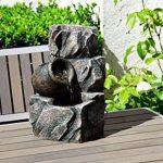 dobar 96400e Fontaine intérieure design en polyrésine de style paroi rocheuse, jeu d'eau avec pompe pour l'intérieur, plastique, gris, 17.2 x 16.2 x 27 cm de la marque dobar image 2 produit
