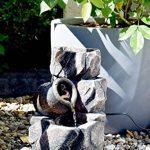 dobar 96400e Fontaine intérieure design en polyrésine de style paroi rocheuse, jeu d'eau avec pompe pour l'intérieur, plastique, gris, 17.2 x 16.2 x 27 cm de la marque dobar image 3 produit