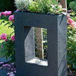 Dobar Grande Fontaine de jardin avec pompe et LED en polyrésine 54.5 x 19 x 76 cm grau-schwarz (steingrau) de la marque dobar image 3 produit