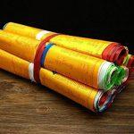 Dollbling bouddhiste tibétain drapeaux de prière 10écritures Haut de gamme en soie Vent Cheval Drapeau 6.8metres Corde de 20pcs/Port Cérémonial Ronda religieux Drapeau de la marque Dollbling image 2 produit