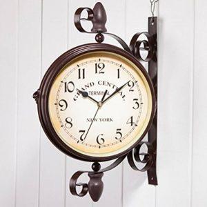 Double Face Horloges - Ailiebhaus Station de Jardin Horloge Murale Extérieure Horloge Style de Antique Européen de la marque Ailiebhaus image 0 produit