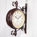 Double Face Horloges - Ailiebhaus Station de Jardin Horloge Murale Extérieure Horloge Style de Antique Européen de la marque Ailiebhaus image 1 produit