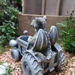 Drachenkind sur tracktor avec lampe solaire sculpture de jardin dragon de l'amour de la marque Kremers-Schatzkiste image 3 produit