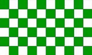 Drapeau à carreaux Vert/Blanc 3 x 2 m Moyen - 100% Polyester-oeillets métal-cousus Double de la marque Perfectflags image 0 produit