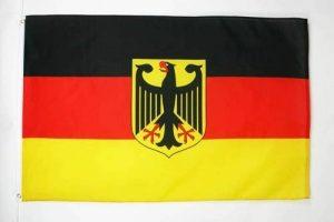 DRAPEAU ALLEMAGNE AVEC AIGLE 150x90cm - DRAPEAU ALLEMAND 90 x 150 cm - DRAPEAUX - AZ FLAG de la marque AZ FLAG image 0 produit